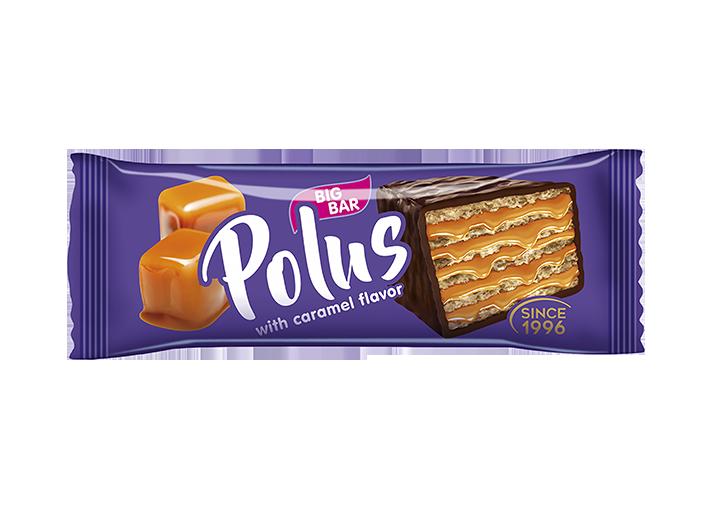 """Cake wafer glazed """"Polus"""" with caramel taste"""