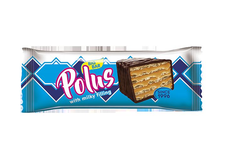 Barre gaufrette au lait condensé «Polus»