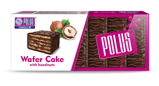 "Wafer cake ""Polus"" with hazelnuts"