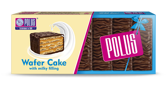 "Wafer cake ""Polus"" with milky flavor"