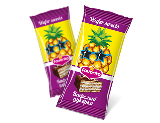 "Sweets wafer glazed ""Pineapple"""