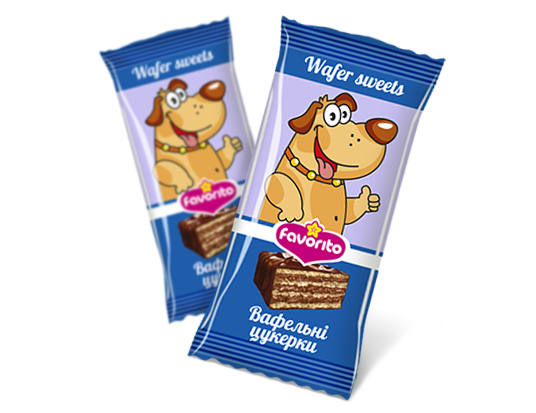 "Sweets wafer glazed ""Tuzik"""